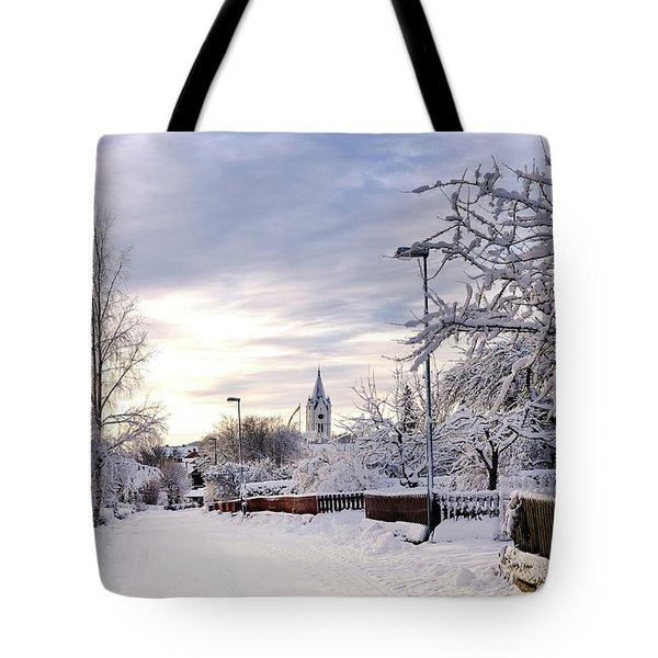 Winter Wonderland Redux Tote Bag by Marius Sipa