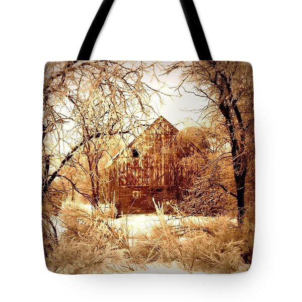 Winter Wonderland Sepia Tote Bag by Julie Hamilton