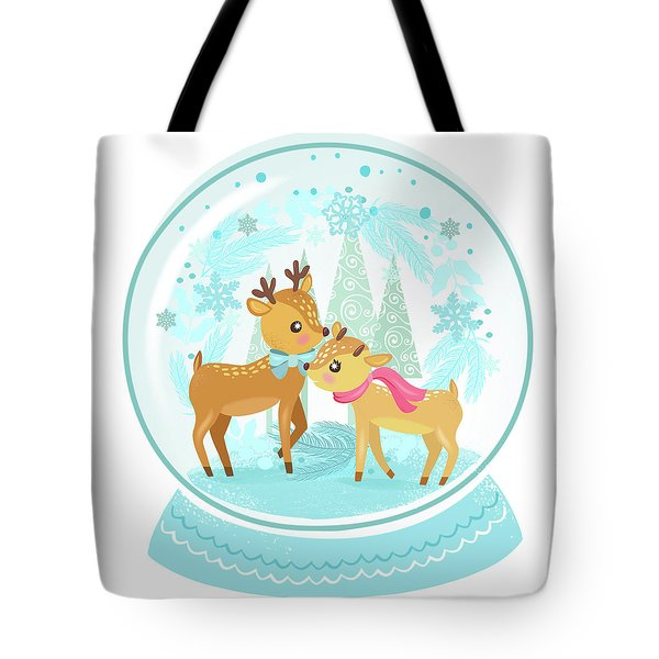 Winter Wonderland Snow Globe Tote Bag