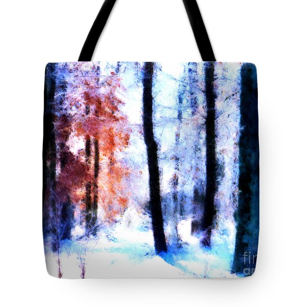 Winter Woods Tote Bag by Craig Walters