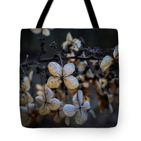 Winterized Hydrangea Tote Bag