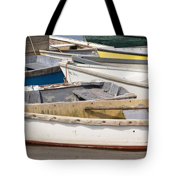 Winterport Dories Abstract Tote Bag