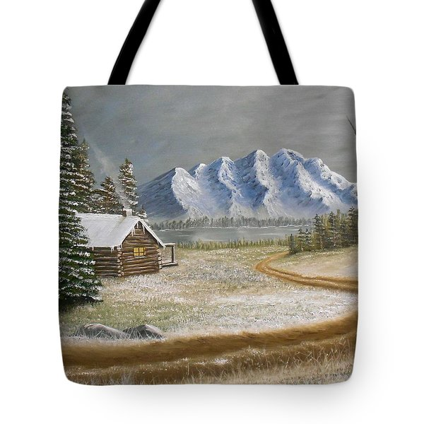 Winter's Arrival Tote Bag by Sheri Keith