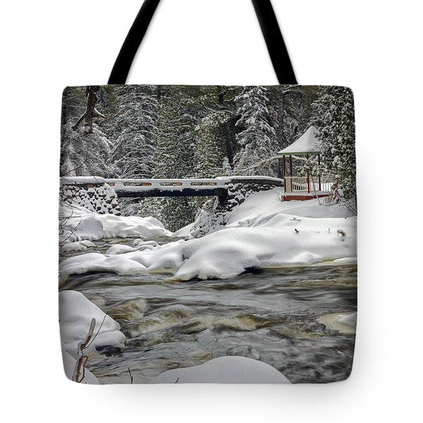 Tote Bag featuring the photograph Winter's Blanket by Mary Amerman