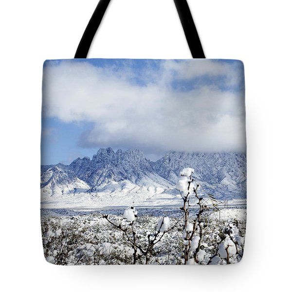 Tote Bag featuring the photograph Organ Mountains Winter Wonderland by Kurt Van Wagner