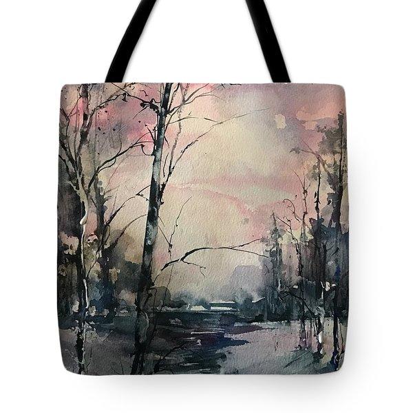 Winter's Blush Tote Bag