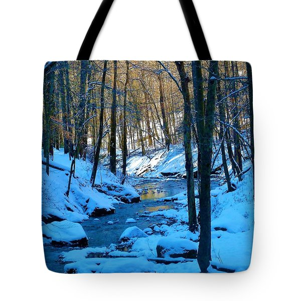Winter's Cold Touch Tote Bag