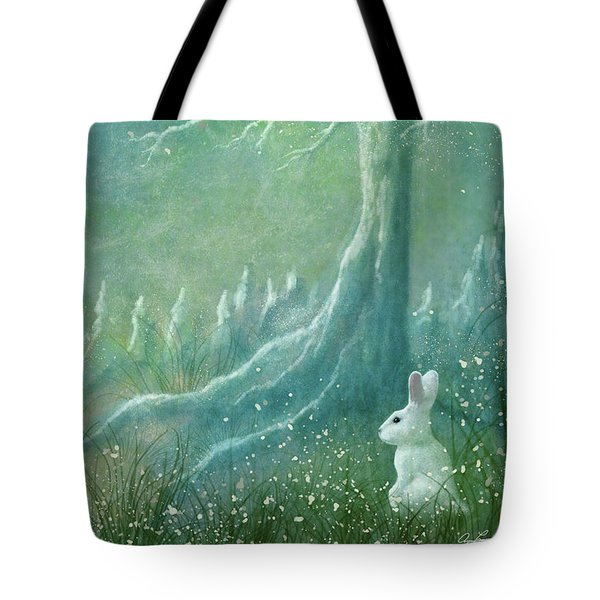 Tote Bag featuring the digital art Winters Coming by Ann Lauwers