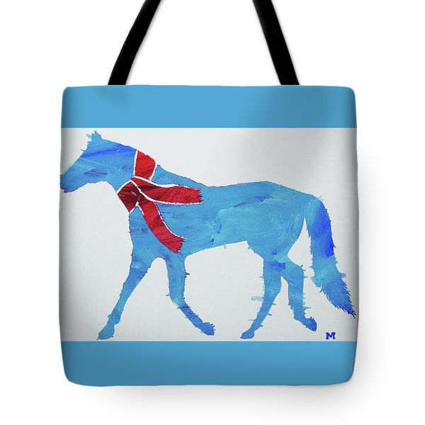 Tote Bag featuring the painting Winter's Coming by Candace Shrope