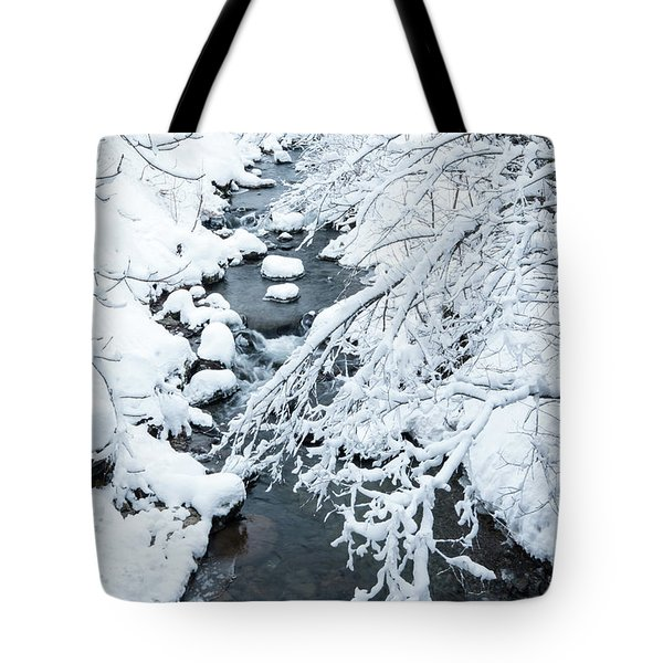 Tote Bag featuring the photograph Winters Creek- by JD Mims