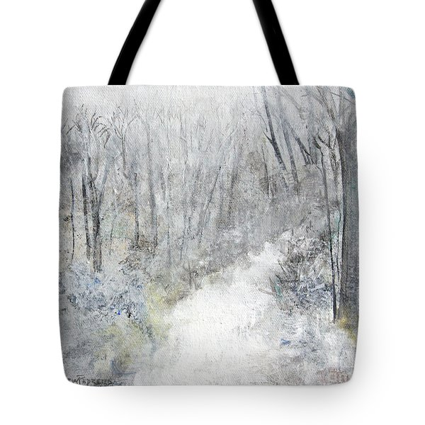 Tote Bag featuring the painting Winter's Day by Robin Maria Pedrero