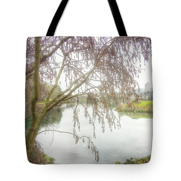 Tote Bag featuring the photograph Winter's  End  by Connie Handscomb