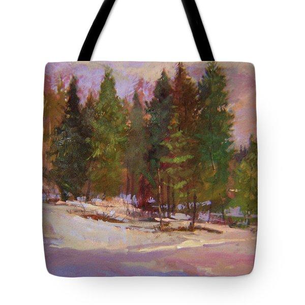 Winter's Eve Plein Air Tote Bag
