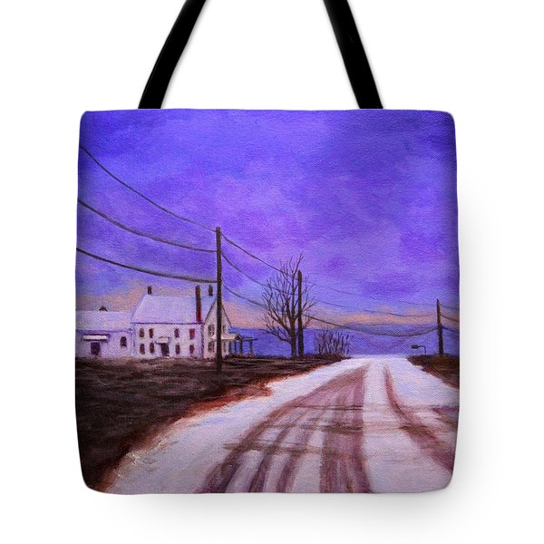 Winters Evening Tote Bag