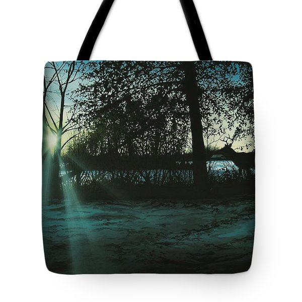 Winter's Evening Scout Tote Bag