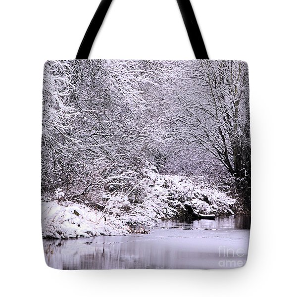 Winters First Icy Breath Tote Bag