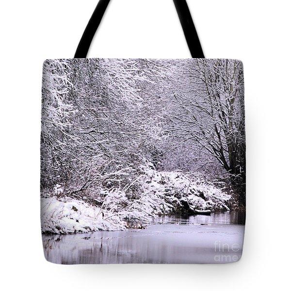 Winters First Icy Breath Tote Bag by Baggieoldboy