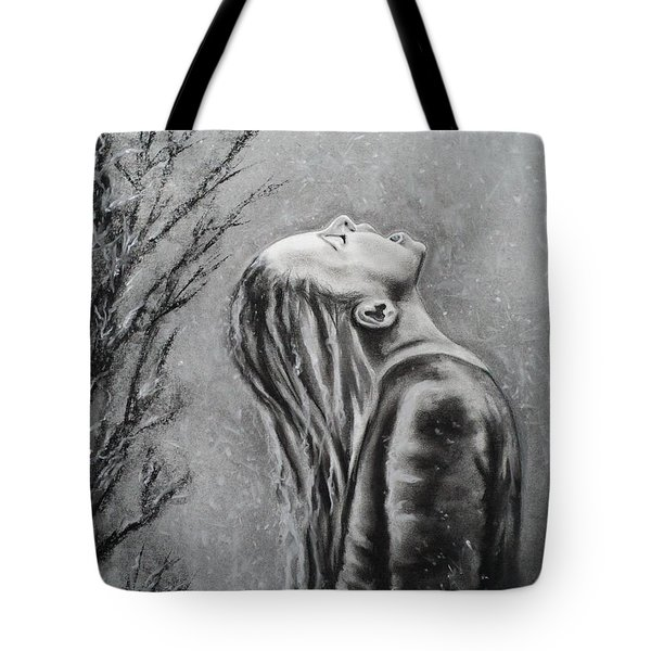 Winters First Snowfall Tote Bag by Carla Carson