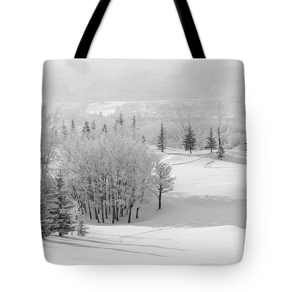 Winter's Gentle Kiss Tote Bag