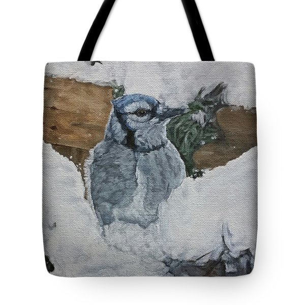 Winters Greeting Tote Bag by Wendy Shoults