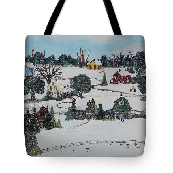 Winters Last Snow Tote Bag