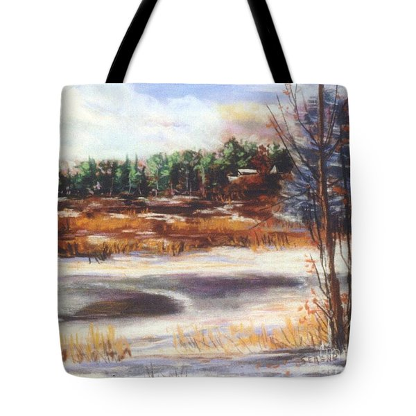 Winter's Light Tote Bag by Sandy Sereno