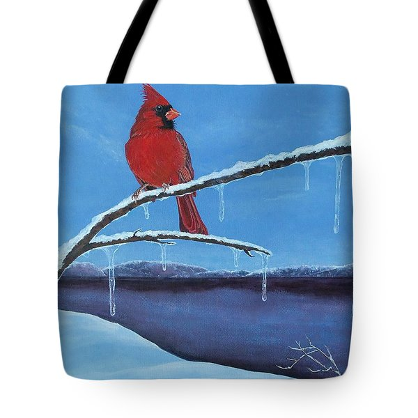 Winter's Red Tote Bag