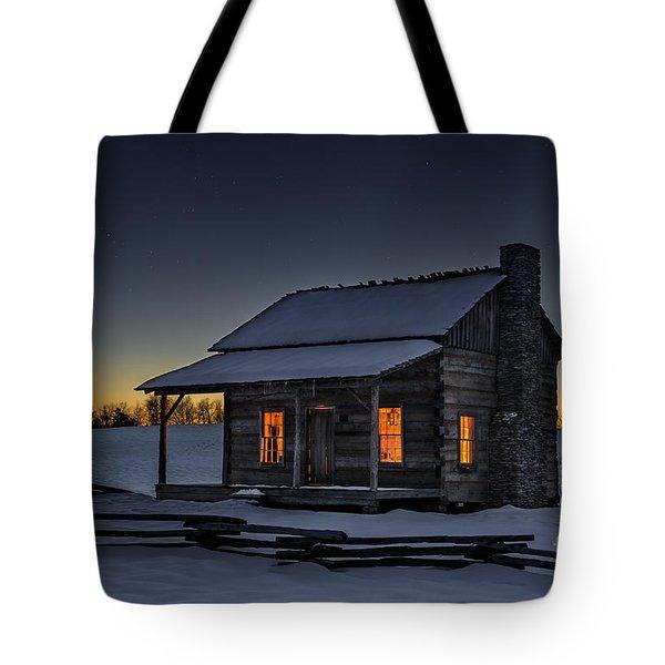Winters Refuge Tote Bag