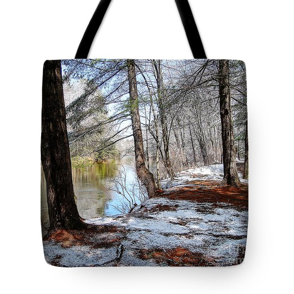 Winter's Remains Tote Bag