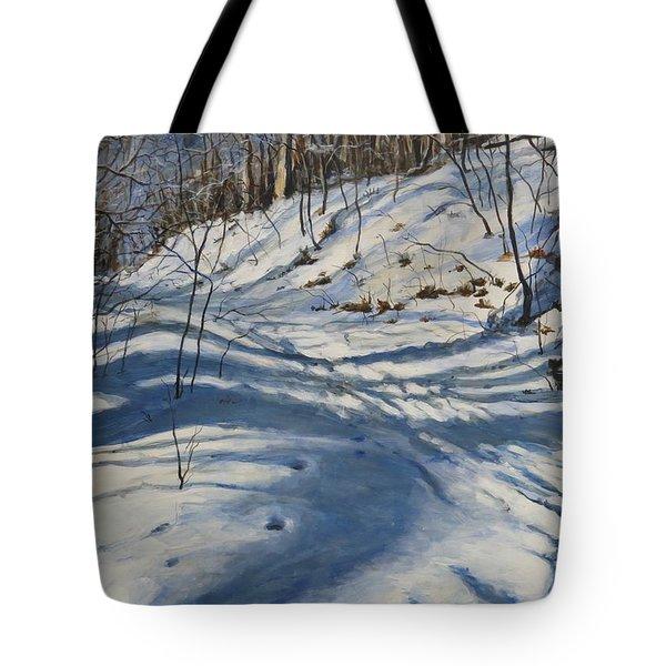 Winter's Shadows Tote Bag