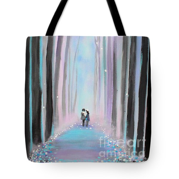 Winter's Walk Tote Bag