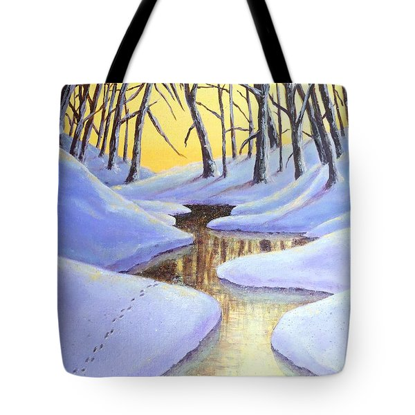 Winter's Warmth Tote Bag