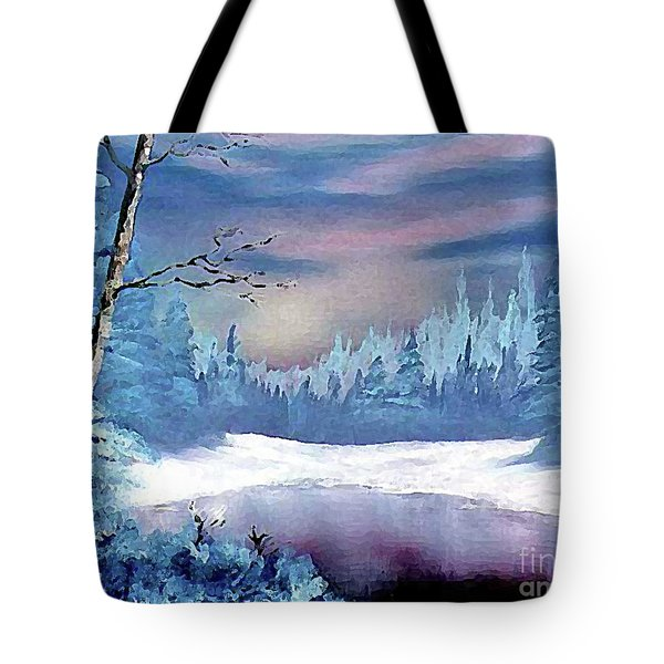 Winterscape Tote Bag