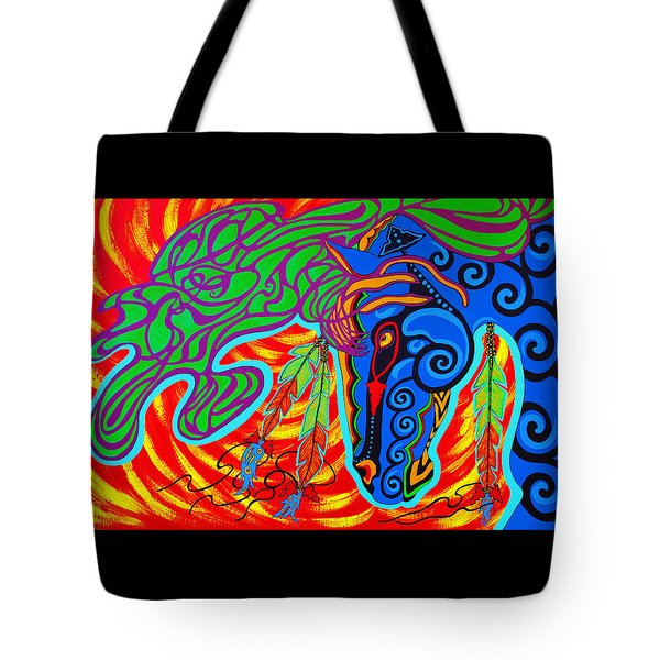 Tote Bag featuring the painting Winter Spirit by Debbie Chamberlin