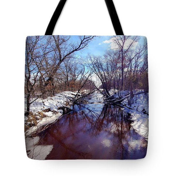 Wintertime In Necedah  Tote Bag by Ricky L Jones