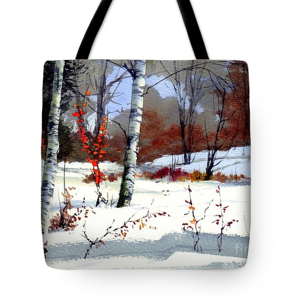 Wintertime Painting Tote Bag