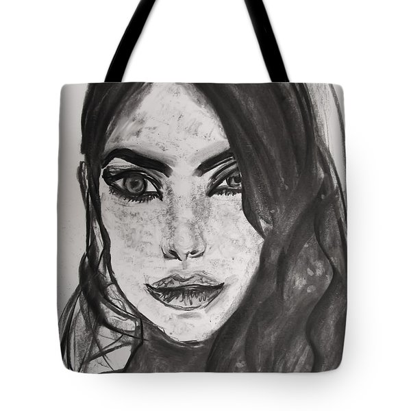 Tote Bag featuring the painting Wintertime Sadness by Jarko Aka Lui Grande