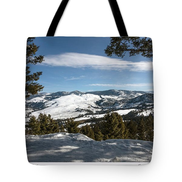 Wintertime View From Hellroaring Overlook In Yellowstone National Park Tote Bag by Carol M Highsmith