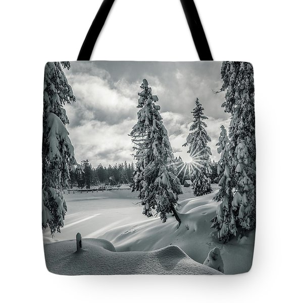 Winter Wonderland Harz In Monochrome Tote Bag
