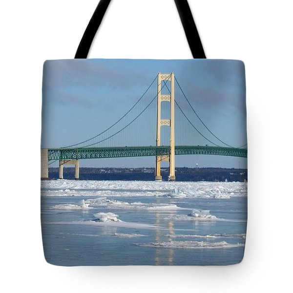 Wintery Bridge Tote Bag