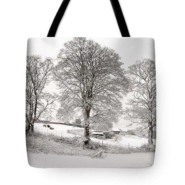 Wintery Scene Tote Bag