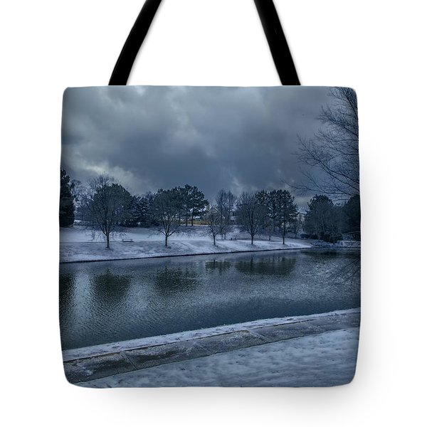 Icy Reflections  Tote Bag by Dennis Baswell