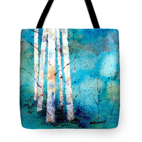 Wintry Aspen Tote Bag