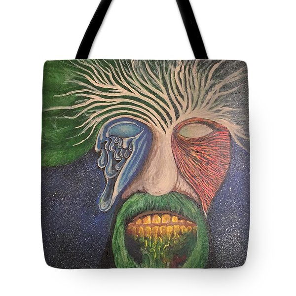 Tote Bag featuring the mixed media WIP by Steve  Hester