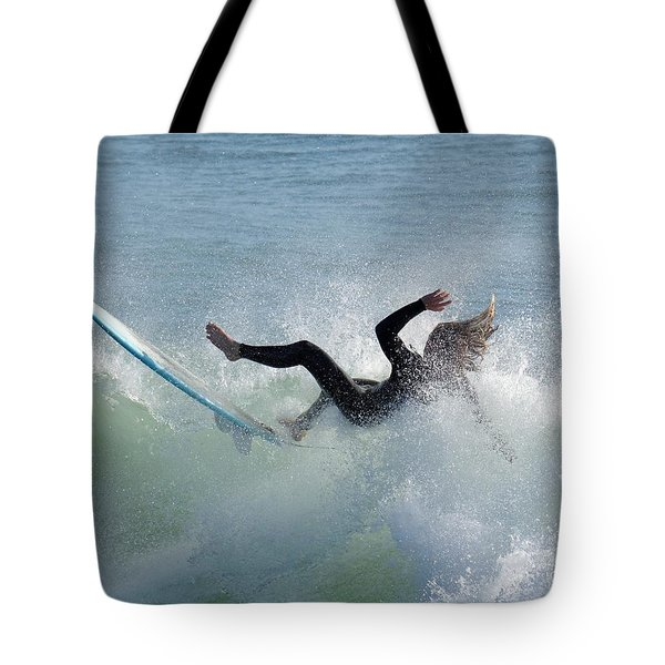 Wipe Out - California Surfer Tote Bag