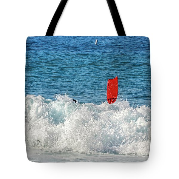 Tote Bag featuring the photograph Wipe Out by David Lawson