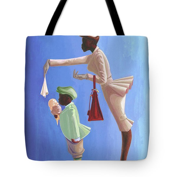 Wipe Your Mouth Boy Tote Bag