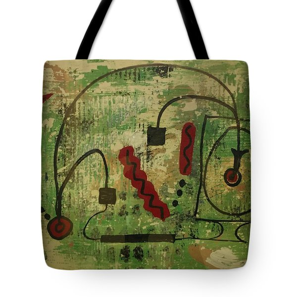 Wired Composition Enigma Tote Bag