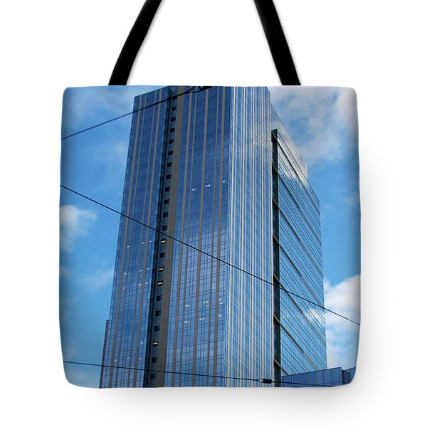 Tote Bag featuring the photograph Wired In Seattle - Skyscraper Art Print by Jane Eleanor Nicholas