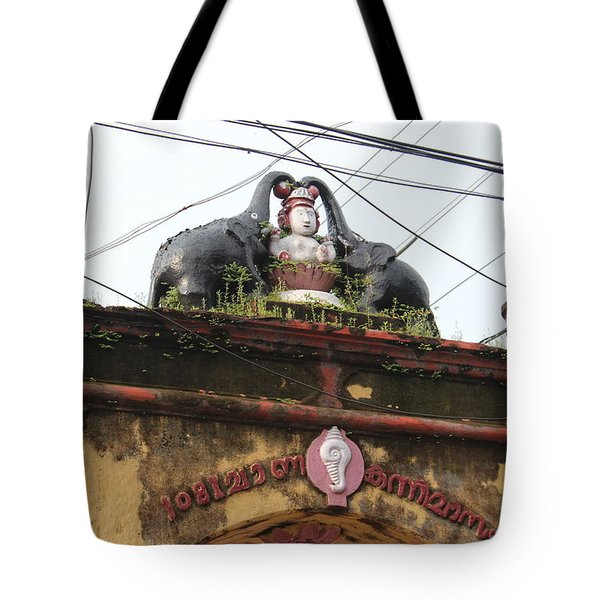 Wires And Lakshmi At Devi Temple, Kochi Tote Bag